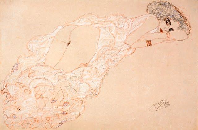 Gustave Klimt análna masturbácia